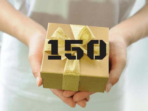 """שובר מתנה 150 ש""""ח"""