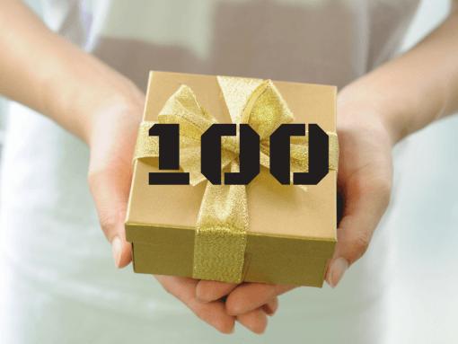 """שובר מתנה 100 ש""""ח"""