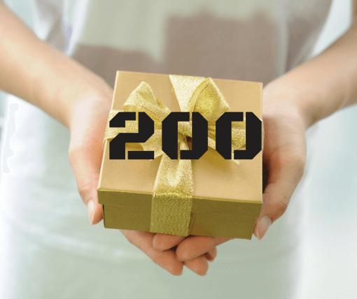 """שובר מתנה 200 ש""""ח"""