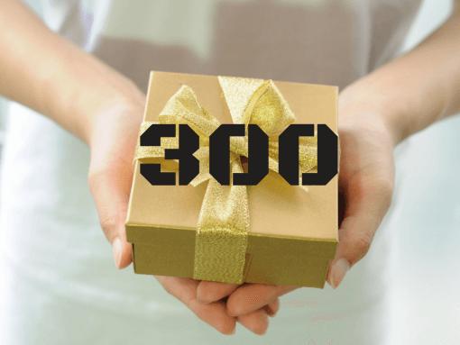 """שובר מתנה 300 ש""""ח"""