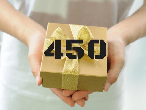 """שובר מתנה 450 ש""""ח"""