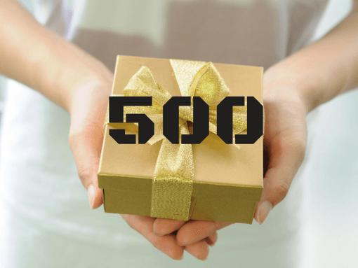 """שובר מתנה 500 ש""""ח"""